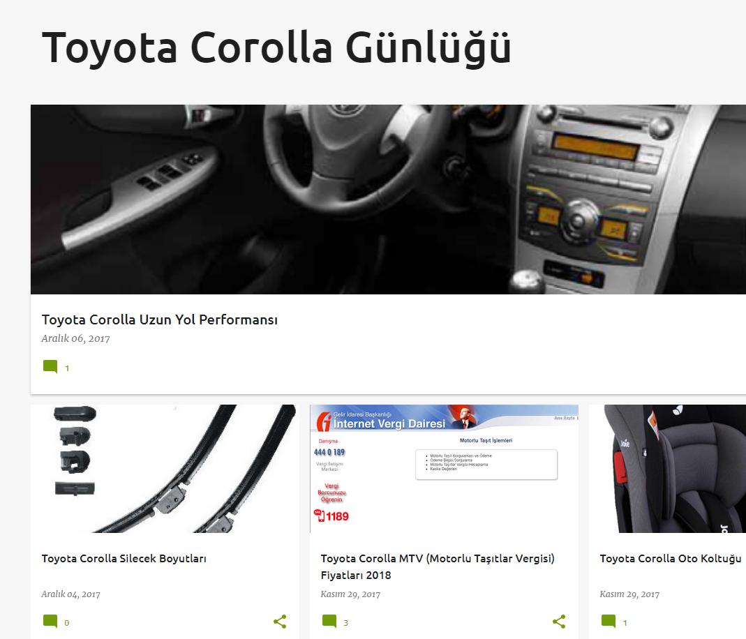 Toyota Corolla Günlüğü
