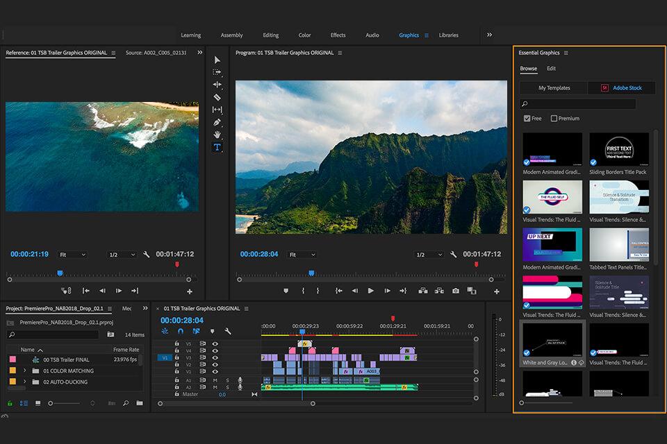 Adobe Premiere en sık kullanılan video düzenleme yazılımlarındandır.